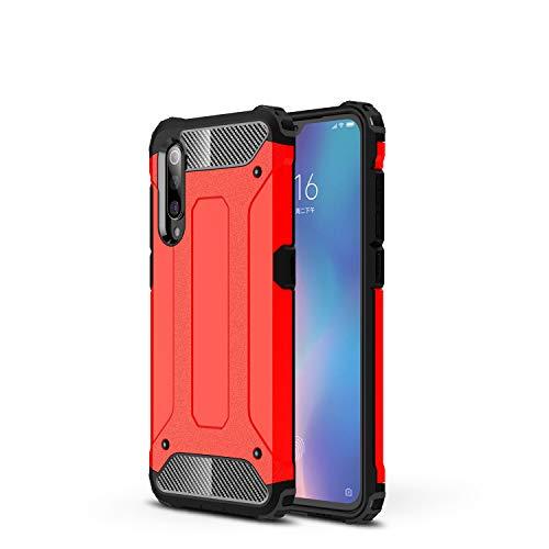 NOKOER Funda para Xiaomi Mi MAX 4, 2 in 1 PC + TPU Cover, A Prueba de Golpes Telefono Movil Funda [A Prueba de Polvo] [Huella Digital Anti] Case para Xiaomi Mi MAX 4 Smartphone - Rojo