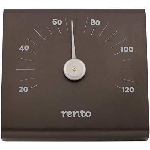 Rento - Thermometer, Saunathermometer - Aluminium - Farbe: Anthrazit - (BxHxT): 15 x 14 x 3 cm