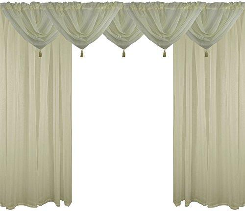 crema-9-piece-velo-set-54-137cm-canale-bordo-superiore-per-bastone-tende-drappi-drappeggi