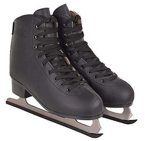 Schlittschuhe Eiskunstlauf # Kunstlauf Eiskunstlaufschuhe gefüttert Klassisch EIS Sport Eislaufen Damen & Herren NF8565 (Schwarz, 39) -