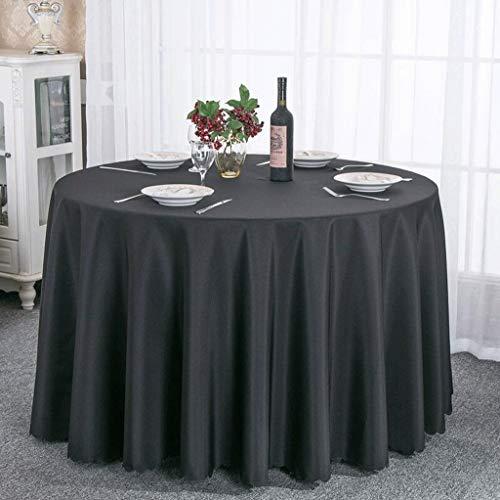Family Home Household Pure Color Hotel Tischdecken Tuch Restaurant Runde Tischdecke Runde Tischdecken für Dinner-Picknick, Rund 240 cm, Schwarz ()