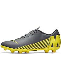 cheap for discount 9f036 26427 Nike Men s Vapor 12 Club FG MG Dark Green Black-Opti Yellow Football