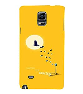 EPICCASE Sharpen your imagination Mobile Back Case Cover For Samsung Galaxy Note 4 (Designer Case)