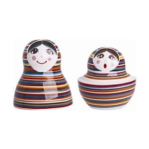 Ritzenhoff & Breker 091403 Salz und Pfefferstreuer Matroschka - Stripe Doll