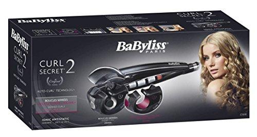 BaByliss Paris Curl Secret Ionic 2, automatischer Lockenstyler mit 2 Aufsätzen für große und kleine Locken, Wellen, Beach Waves, geeignet für dünne bis dicke Haare, C1300E schwarz