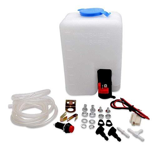 Generp Universal-Scheibenwaschpumpe, 12 V, für Windschutzscheibe, Scheibenwischer-Set, Reinigungsflasche, Werkzeug für Autos, Zubehör