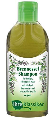 IHRE KLASSIKER Naturkosmetik Brennnessel Anti-Schuppen Shampoo, Wacholderextrakt, Für schuppiges und fettiges Haar & trockene Kopfhaut, 200 ml -