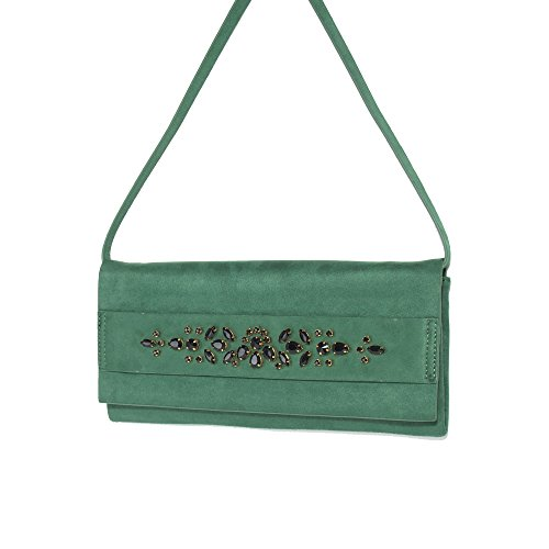 Parfois - Clutch - Festa Envelope Finto Camoscio Verde - Donne Verde