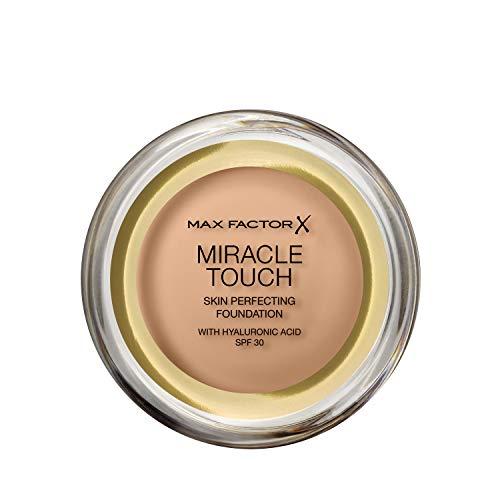 Max Factor Miracle Touch Foundation mit Hyaluronsäure für eine glatte und ebenmäßige Haut, Farbe. 60 Sand, 1er Pack (1 x 12 g) -