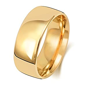 9 Karat (375) Gold 8mm Slight Court Form Herren/Damen – Trauring/Ehering/Hochzeitsring WJS151419KY