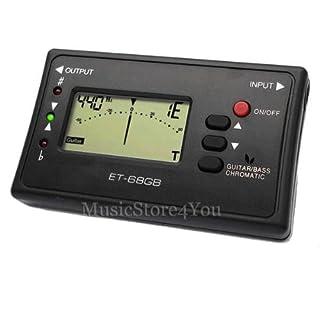 Chromatisches Stimmgerät Digital Tuner Gitarre Bass ET68GB