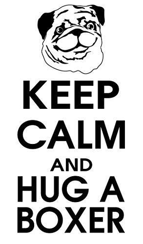 spb87 Keep Calm and Hug un Boxeador–Perro Animales casa corazón Vida Familiar Amor casa Juntos Cita de Pared Adhesivos de Vinilo Pegatinas Art Decor DIY