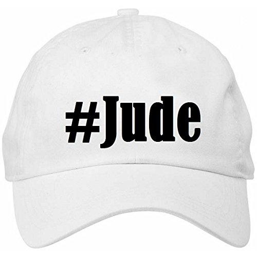 Base Cap Hashtag '#Jude'Größe'uni'Farbe'Weiss'Druck'Schwarz