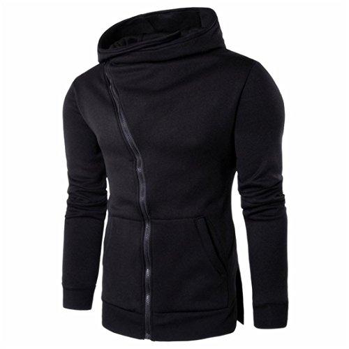 ESAILQ Herren Reißverschluss Kapuzenmantel Outwear Pullover Freizeithemd T-shirts Hoodie Tops (Zip Junge Kleiner Fleece Full)