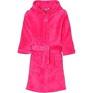Playshoes Unisex Kinder Fleece Uni Bademantel, Rosa (Pink 18), 86/92