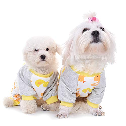 Smoro Niedlicher Hund Kleidung Pyjamas Mantel Overall Welpe Strampler Baumwolle 20 Muster / 5 ()