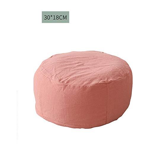 Q&Y-Klappstuhl 30 * 18cm Baumwolle und Leinen Kissen Sitzsack faul Couch Futon Matte for Tatami Lounge Balkon Schlafzimmer (Color : Light orange)