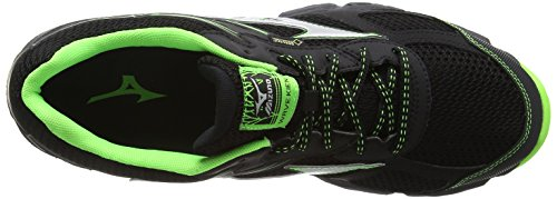 Mizuno Wave Kien 3 G-Tx, Chaussures de Running Compétition Homme, Noir Black (Black/Silver/Green Gecko)