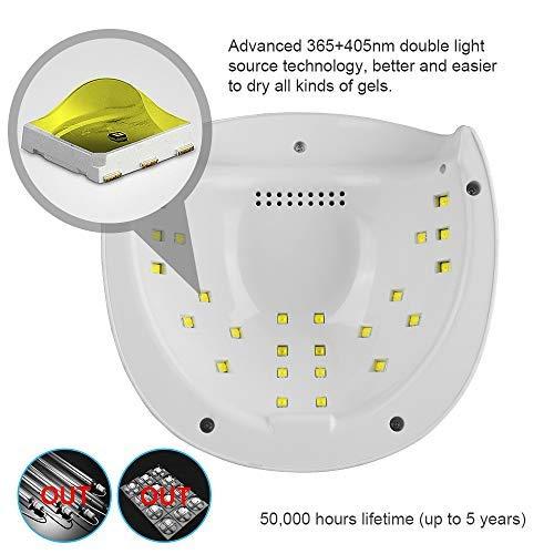 O'vinna 52W Lámpara LED UV Uñas