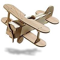 Biplano artigianale in legno da assemblare