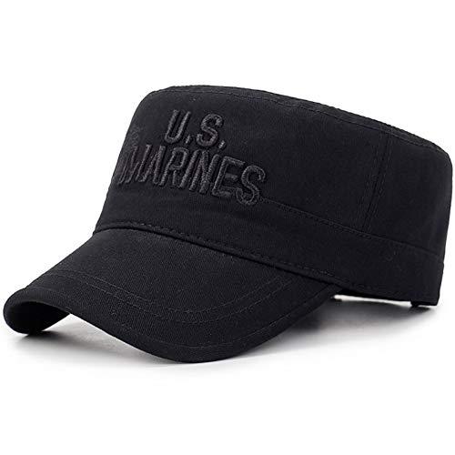 JKYJYJ Baseballmütze Neue Tarnung-Flache Kappe Us-Marine-Armee-Baseballmützen-Mann-Taktische Marine-Dichtung USMC-Camo-Kappen-Buchstabe-Flache Spitzenhüte Casquette (Us-marine-kappe)