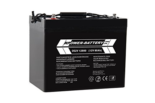 Preisvergleich Produktbild 12V 80Ah RPower AGM Batterie / Bleiakku USV Akku Notstrom Notlicht Bleibatterie