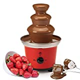 Global Gourmet Belgian Chocolate Fountain Fondue Set | 500ml Capacity Electric 3-Tier Machine