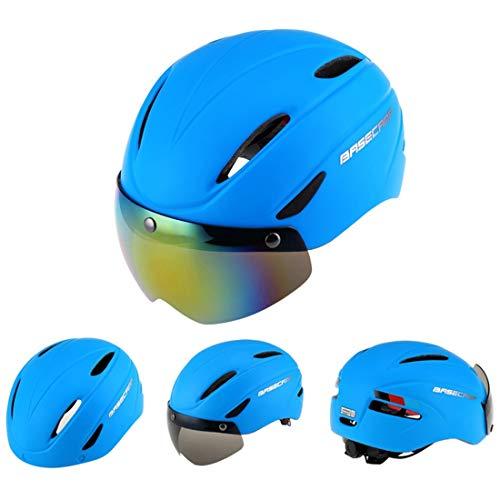 Lanbinxiang@ Casque de Protection magnétique Professionnel de Sports de Plein air, adapté au Tour de tête: 56-62cm, Taille: 30 * 28 * 27cm sécurité (Couleur : Bleu)