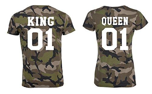 *TRVPPY Partner Herren + Damen Camouflage T-Shirts*