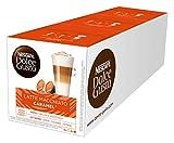 NESCAFÉ Dolce Gusto Latte Macchiato Caramel | 48 Kaffeekapseln | Arabica Robusta Mischung | Feines Karamell Aroma und leckerer Milchschaum | Aromaversiegelte Kapseln | 3er Pack (3 x 16 Kapseln)
