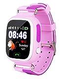 VIDIMENSIO GPS Telefon Uhr 'Kleiner Affe - pink (Wifi)', OHNE Abhörfunktion, Smartwatch für Kinder, SOS + Telefonfunktion + GPS+WIFI+LBS Ortung per App, Bedienungsanleitung + Support + App auf deutsch