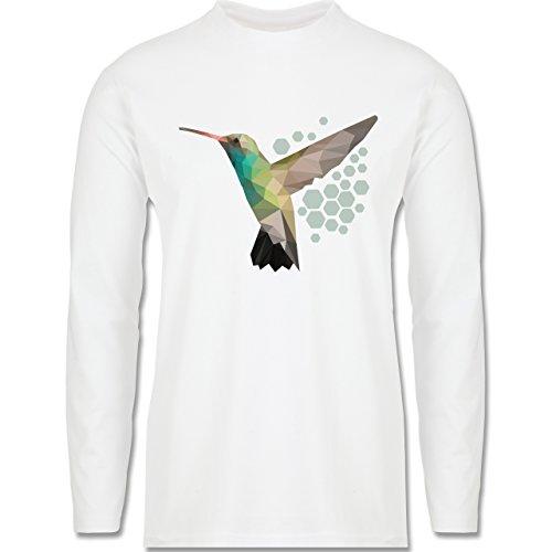 Vögel - Colibri - Longsleeve / langärmeliges T-Shirt für Herren Weiß