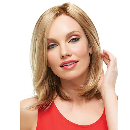 Perruque Cheveux Raides Naturels Courte Droite Vin Rouge Dégradé Couleur Femmes Mode Synthétique 2019 pas cher 40cm ursing perruques Blonde femme