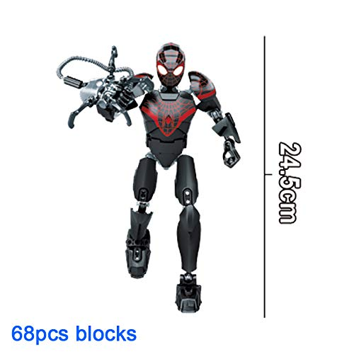 B123 Action & Toy Figures - Avenger Super Hero Thanos Hulk Deadpool Spider-Man Black Panther Buildable Action Figure Building Block Toy Compatible with Lego - by 1 ()