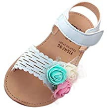 YWLINK 3 Colores Verano Infantiles NiñOs BebéS Chicas Encantadora Linda Flor Princesa Sandalias Zapatos Casuales CóModo