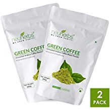 Neuherbs Organic Green Coffee Beans Powder for Weight Loss 200g (Pack of 2)