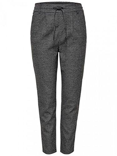 ONLY Damen Hose Onlpoptrash Soft Check Pant, Größe:XL - L 30, Farbe:Black Cloud Dancer (15160890)