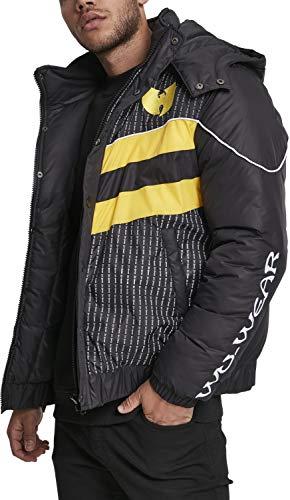 Wu Wear Herren Puffer Jacket Winterjacke Black M (Jacke Wu Wear)