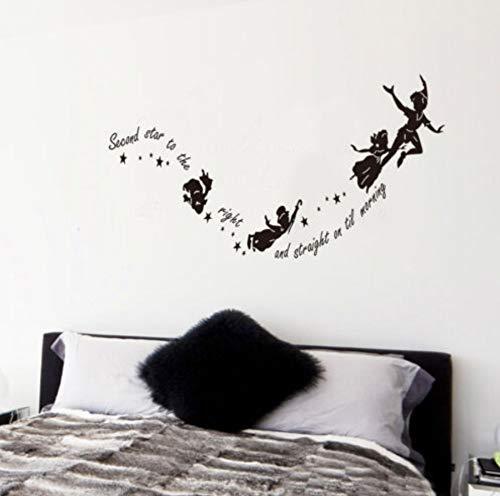 Segunda Estrella A La Derecha Peter Pan Wall Stcker Mural Art Regalos Diy Hot