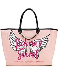 e1cdd7dca8 Victoria s Secret Patch City Tote Bag Pink Angel Wings Travel Laptop Bag  Uni Bag