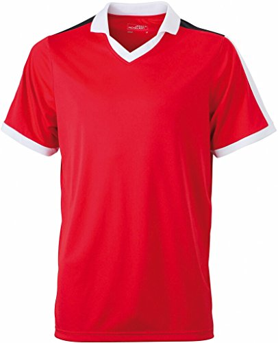JAMES & NICHOLSON Funktionelles Teamshirt Red/White/Black