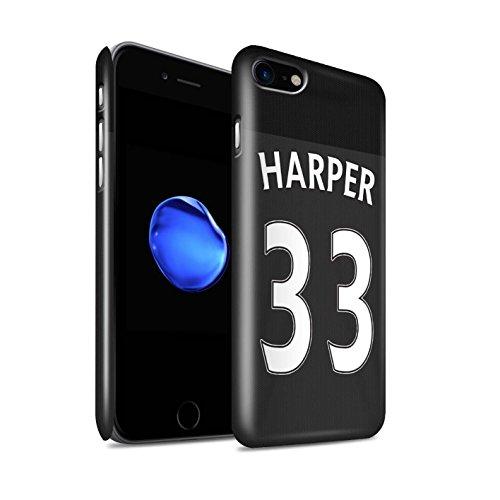 Offiziell Sunderland AFC Hülle / Glanz Snap-On Case für Apple iPhone 7 / Jones Muster / SAFC Trikot Away 15/16 Kollektion Harper