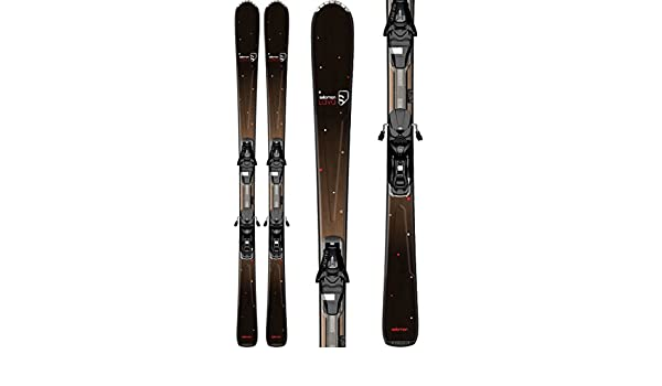 Salomon Origins Lava Skis BlackBrown w L9 Bindings Womens