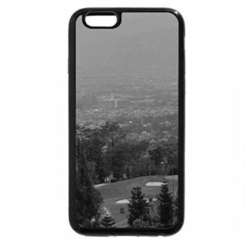 iPhone 6S Plus Case, iPhone 6 Plus Case (Black & White) - Bandung city from a golf course, north hills (City Course Golf)