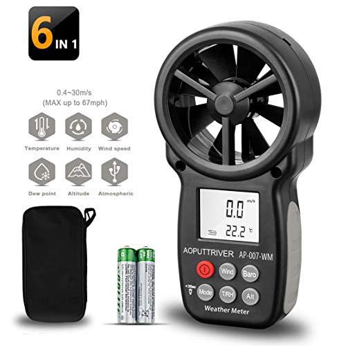 Anemómetro digital de mano AP-007WM Medidores de viento Medir la velocidad del...