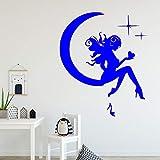xingbuxin Dea sulla Luna Bellissimi Adesivi murali Decorazione per la casa Adesivi per Uomo Camere da Letto Soggiorno Decorazioni per la casa Rimovibili 3 XL 58cm X 68cm