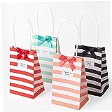 Sacchetti di Carta a Righe Gift Bag 10pcs Imballaggio Candy Cookie Presente Imballaggio Favore Kraft Bonbonniere Festa di Nozze Goodie per i Dolci Colore Casuale