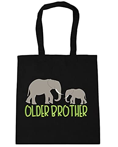 Hippowarehouse Older brother elephant Tote Shopping Gym Beach Bag 42cm x38cm, 10 litres