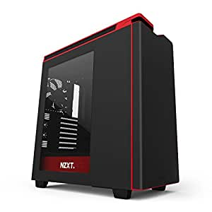 NZXT H440 2015 Edition Accent Mid Tower Chassis for PC - Black/Red