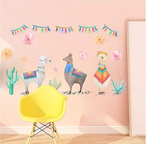 Cartoon-Wand-Aufkleber Tier Musik Geburtstag Party Thema Wand Aufkleber Große Wand Aufkleber Haushalt Wandaufkleber Für Kinderzimmer 40x60cm ()